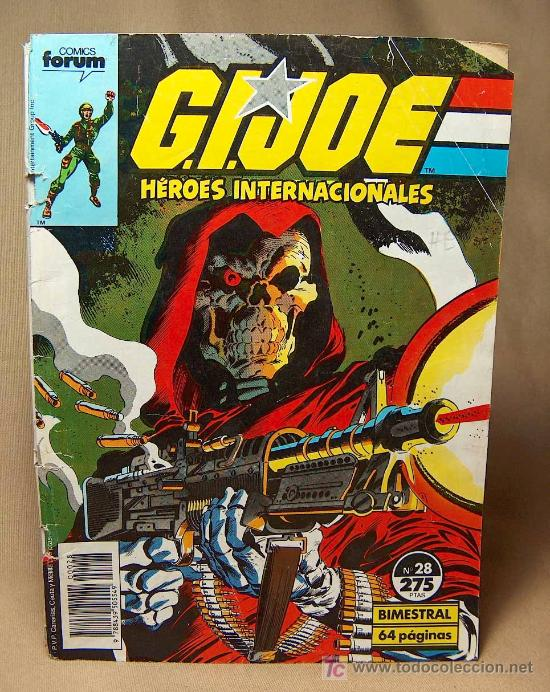 COMIC, GI JOE, HEROES INTERNACIONALES, FORUM, Nº 28, 1986 (Tebeos y Comics - Forum - Furia)