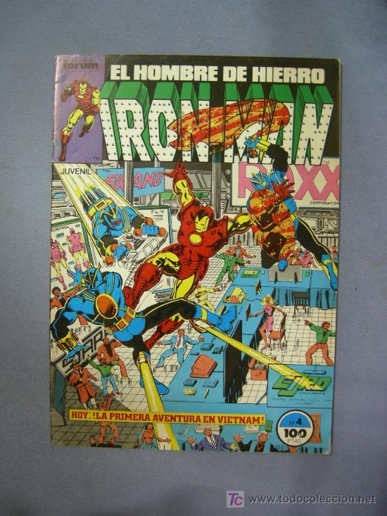 COMICS FORUM EL HOMBRE DE HIERRO IRON MAN Nº 4 1985 (Tebeos y Comics - Forum - Iron Man)