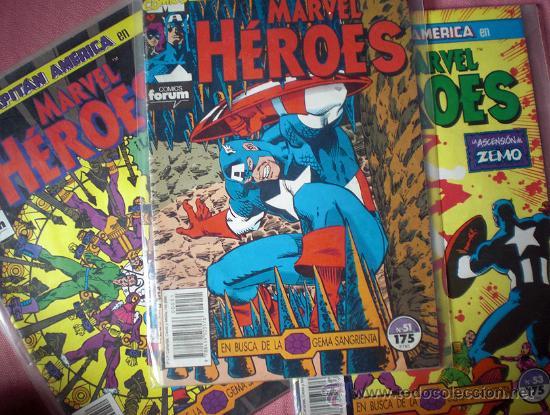 EN BUSCA DE LA GEMA SANGRIENTA - SERIE COMPLETA DE 3 NUMEROS (CAPITAN AMERICA) MARVEL HEROES (Tebeos y Comics - Forum - Capitán América)