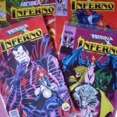 Cómics: LOTE DE 4 COMICS DE LA PATRULLA X SAGA INFERNO.. Lote 26790704