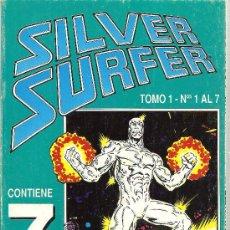 Cómics: SILVER SURFER TOMO REETAPADO CON LOS NUMEROS DEL 1 AL 7. Lote 148142025