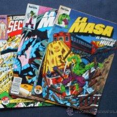 Cómics: 3 COMICS FORUM - LA MASA Y SPIDERMAN. Lote 22189568
