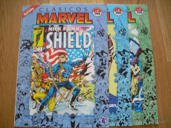 CLASICOS MARVEL 5, 6 Y 7 - NICK FURIA, SHIELD (MARVEL). (Tebeos y Comics - Forum - Furia)