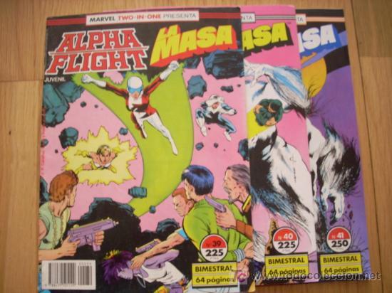 ALPHA FLIGHT & LA MASA - Nº 39, 40, 41 - (Tebeos y Comics - Forum - Alpha Flight)