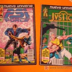Cómics: NUEVO UNIVERSO Nº 5 PSI FORCE + Nº 8 JUSTICE . FORUM . . Lote 21261026