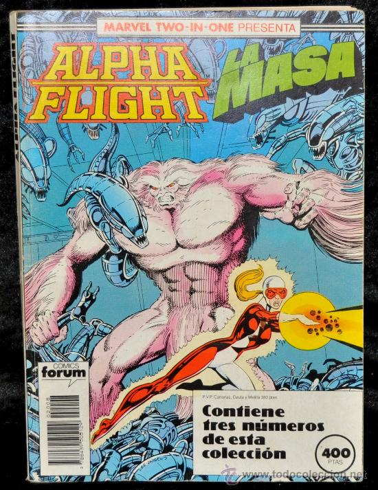 ALPHA FLIGHT- LA MASA. RETAPADO Nº 48, 49 Y 50. MARVEL TWO IN ONE. COMICS FORUM (Tebeos y Comics - Forum - Alpha Flight)