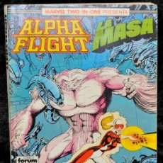 Cómics: ALPHA FLIGHT- LA MASA. RETAPADO Nº 48, 49 Y 50. MARVEL TWO IN ONE. COMICS FORUM. Lote 27369279