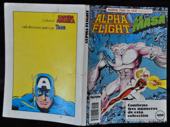 Cómics: ALPHA FLIGHT- LA MASA. RETAPADO Nº 48, 49 Y 50. MARVEL TWO IN ONE. COMICS FORUM - Foto 2 - 27369279