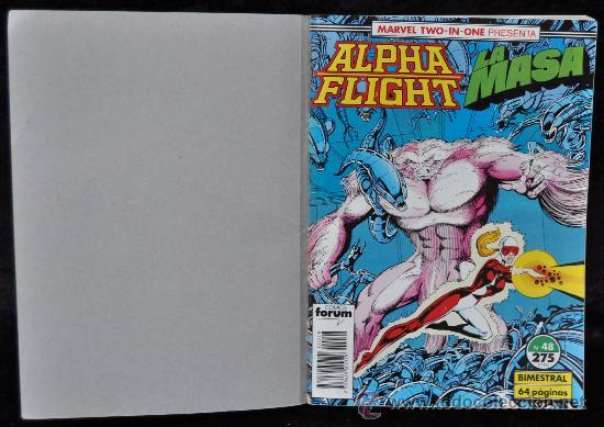 Cómics: ALPHA FLIGHT- LA MASA. RETAPADO Nº 48, 49 Y 50. MARVEL TWO IN ONE. COMICS FORUM - Foto 3 - 27369279