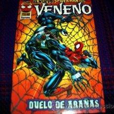Cómics: TOMO SPIDERMAN Y VENENO, DUELO DE ARAÑAS, FORUM DIFICIL. Lote 31988378