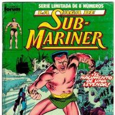Cómics: NAMOR Nº 1, FORUM 1989, LA SAGA DE SUB-MARINER . Lote 22489631