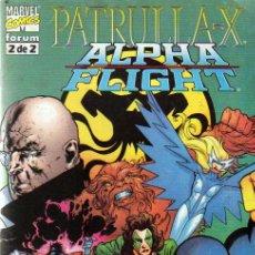 Cómics: PATRULLA X-ALPHA FLIGHT Nº 2 DE 2 - COMICS FORUM 1999. Lote 22789772