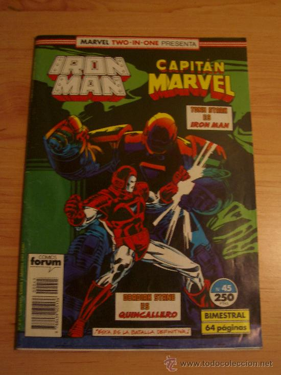 IRON MAN Y CAPITAN MARVEL. MARVEL TWO-IN-ONE Nº 45. (Tebeos y Comics - Forum - Iron Man)