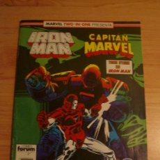 Comics: IRON MAN Y CAPITAN MARVEL. MARVEL TWO-IN-ONE Nº 45.. Lote 22997044