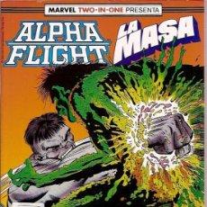 Cómics: COMIC FORUM MARVEL ALPHA FLIGHT LA MASA RETAPADO Nº 51 A 55. Lote 26356902