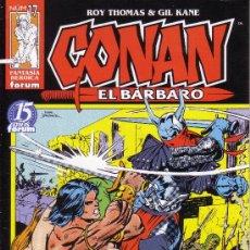 Cómics: CONAN EL BARBARO - FORUM - Nº 17 - GIL KANE. Lote 25335165