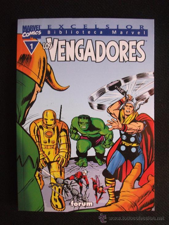 BIBLIOTECA MARVEL LOS VENGADORES Nº 1 LINEA EXCELSIOR (Tebeos y Comics - Forum - Otros Forum)