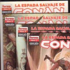 Cómics: LA ESPADA SALVAJE DE CONAN - EDICION COLECIONISTAS , LOTE DE 23 EJEMPLARES - EDITA : FORUM. Lote 25216617