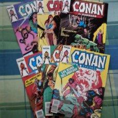 Cómics: CONAN - LOTE DE 6 NUMEROS.. Lote 27196316