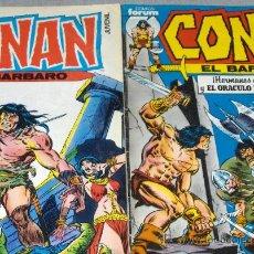 Cómics: FORUM VOL. 1 CONAN EL BÁRBARO NºS 1 Y 2. 1983. 95 PTS. REGALO Nº 7.. Lote 25336280
