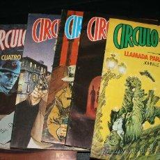 Cómics: CIRCULO DEL CRIMEN. 6 EJEMPLARES. DEL Nº 1 AL 6 MAS LAS TAPAS.. Lote 26467759