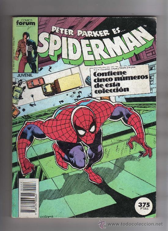 (M-13) SPIDERMAN - CONTIENE 5 NUMEROS , NUM. 161 - 162 - 163 - 164 - 165 , EDT FORUM, SEÑALES DE USO (Tebeos y Comics - Forum - Spiderman)