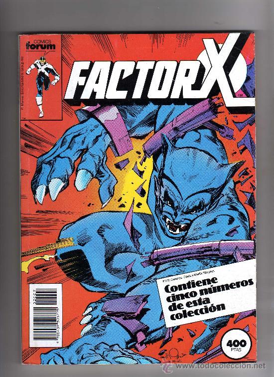(M-13) FACTOR X - CONTIENE 5 NUEMROS, NUM. 31 - 32 - 33 - 34 - 35., EDT FORUM, SEÑALES DE USO (Tebeos y Comics - Forum - Factor X)