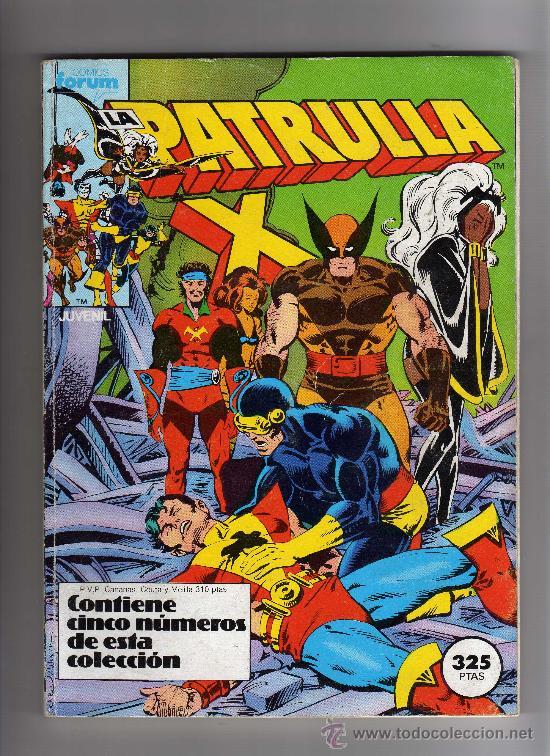(M-13) PATRULLA X - CONTIENE 5 NUMEROS, NUM. 11-12-13-14-15 ., EDT FORUM, SEÑALES DE USO (Tebeos y Comics - Forum - Patrulla X)