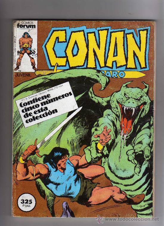 (M-13) CONAN EL BARBARO -CONTIENE 5 NUMEROS, NUM. 66-67-68-69-70., EDT FORUM, SEÑALES DE USO (Tebeos y Comics - Forum - Conan)