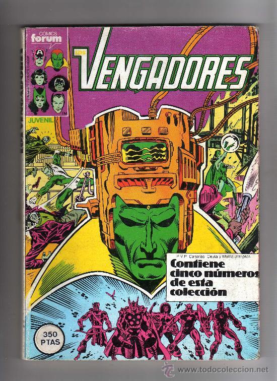 (M-13) VENGADORES - CONTIENE 5 NUMEROS, NUM. 46-47-48-49-50 , EDT FORUM , SEÑALES DE USO (Tebeos y Comics - Forum - Vengadores)