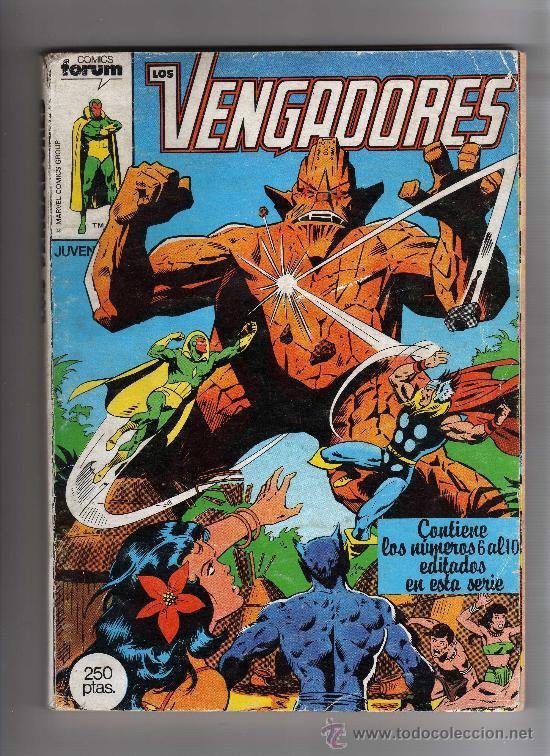 (M-13) LOS VENGADORES - CONTIENE 5 NUMEROS , NUM 6-7-8-9-10 , EDT FORUM, SEÑALES DE USO (Tebeos y Comics - Forum - Vengadores)