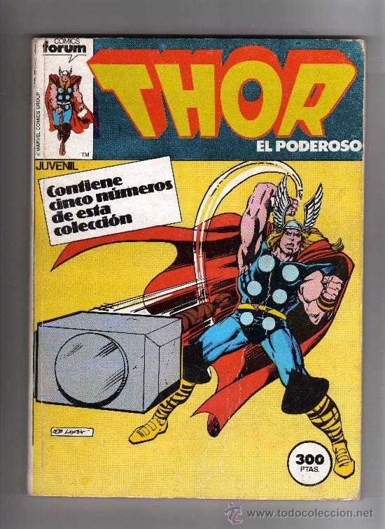 (M-13) THOR EL PODEROSO , CONTIENE 5 NUMEROS, NUM.21-22-23-24-25 , EDT FORUM, SEÑALES DE USO (Tebeos y Comics - Forum - Thor)