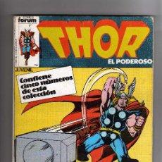 Cómics: (M-13) THOR EL PODEROSO , CONTIENE 5 NUMEROS, NUM.21-22-23-24-25 , EDT FORUM, SEÑALES DE USO. Lote 26843281
