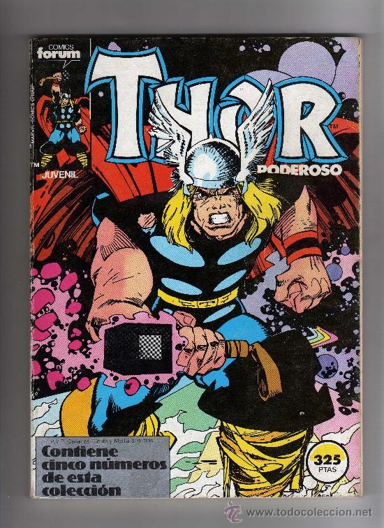 (M-13) THOR EL PODEROSO, CONTIENE 5 NUMEROS, NUM 31-32-33-34-35 , EDT FORUM, SEÑALES DE USO (Tebeos y Comics - Forum - Thor)