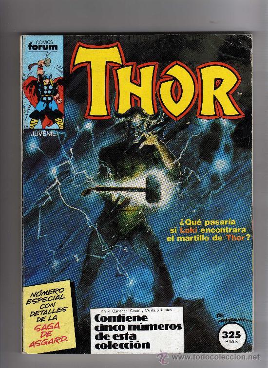 (M-13) THOR EL PODEROSO, CONTIENE 5 NUMEROS, NUM 36-37-38-39-40 , EDT FORUM, SEÑALES DE USO (Tebeos y Comics - Forum - Thor)