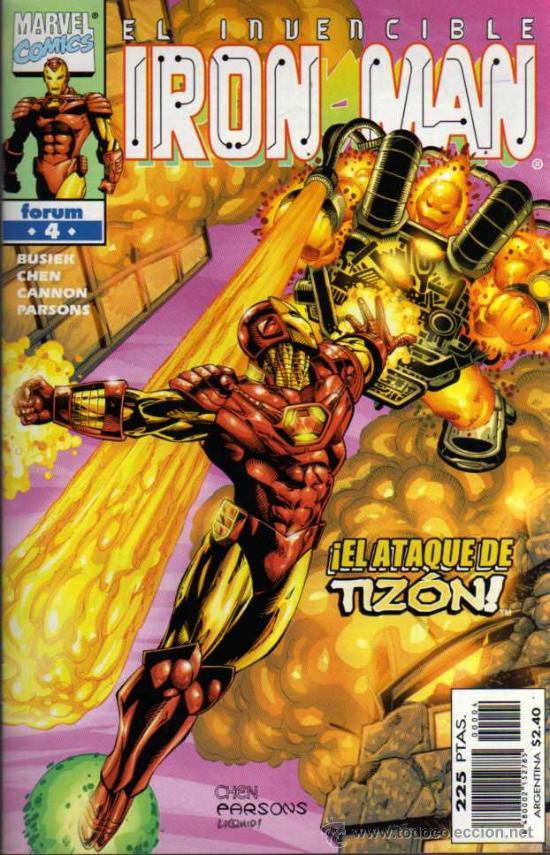 IRON MAN Nº 4 - EL ATAQUE DE TIZÓN - MARVEL / FORUM (Tebeos y Comics - Forum - Iron Man)