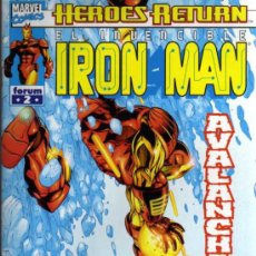 Cómics: IRON MAN Nº 2 - HEROES RETURN - MARVEL / FORUM. Lote 27681356