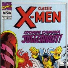 Cómics: CLASSIC X-MEN - DONDE CAMINA EL JUGGERNAUT - Nº 7 - MARVEL/FORUM. Lote 210550743