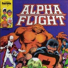 Cómics: ALPHA FLIGHT - RETAPADO CON LOS NÚMEROS DEL 1 AL 5 - FORUM. Lote 28018504