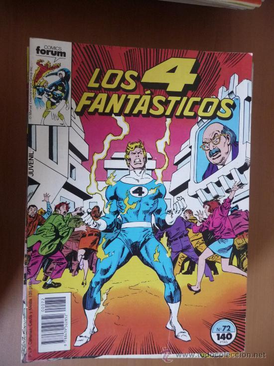 LOS 4 FANTÁSTICOS. VOL 1. Nº 72. FORUM (Tebeos y Comics - Forum - 4 Fantásticos)