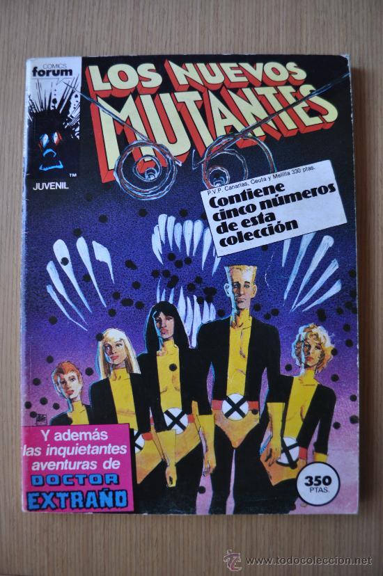 LOS NUEVOS MUTANTES Nº 21, 22, 23, 24, 25 ED. FORUM RETAPADO (Tebeos y Comics - Forum - Nuevos Mutantes)