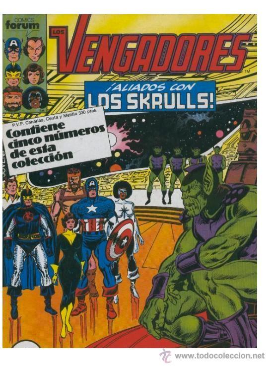 LOS VENGADORES FORUM VOLUMEN I 1 UNO Nº 56,57,58,59,60 EN UN TOMO RETAPADO (Tebeos y Comics - Forum - Vengadores)