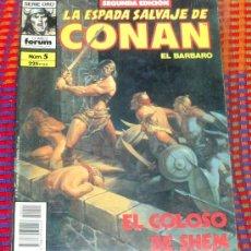 Cómics: LA ESPADA SALVAJE DE CONAN Nº 5. VOL. 1. SEGUNDA EDICION. EL BARBARO. COMICS FORUM.. Lote 29199395