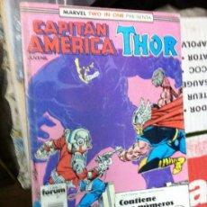 Cómics: MARVEL TWO-IN-ONE: CAPITÁN AMÉRICA & THOR VOL.1 Nº 54,55,56 - FORUM TOMO RETAPADO. Lote 29478836