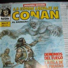 Cómics: COMIC BARBAROS FORUM: CONAN ESPADA SALVAJE 17 KJ-E. Lote 128201852