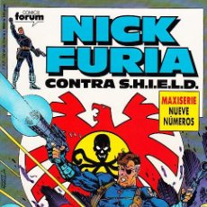 Cómics: COMPLETA - NICK FURIA CONTRA SHIELD # 1 AL 9 (FORUM,1989) - NICK FURY. Lote 29839380