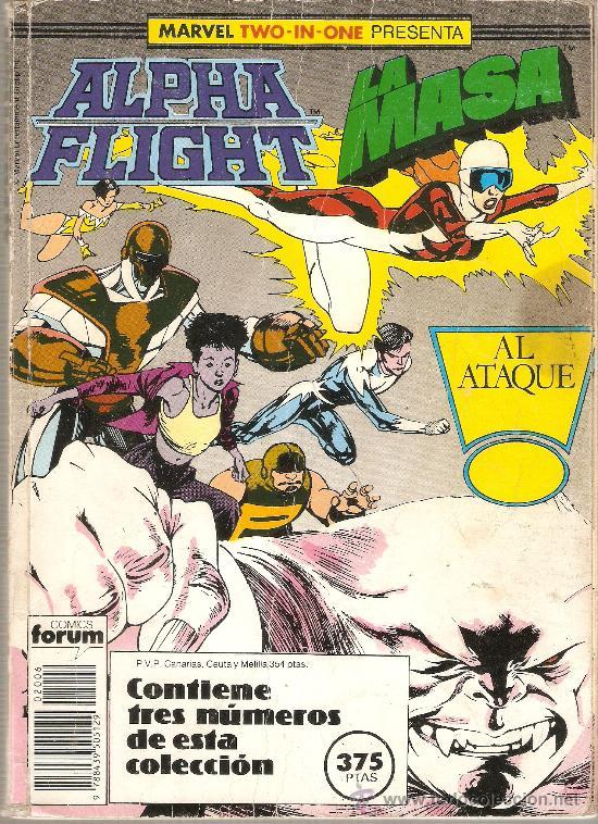 MARVEL TWO IN ONE : ALPHA FLIGHT / LA MASA VOL. 1 - 42, 43 Y 44 / RETAPADO CON 3 NUMEROS / FORUM (Tebeos y Comics - Forum - Retapados)