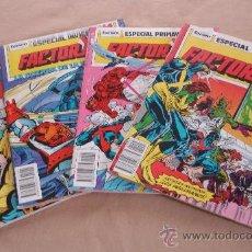 Cómics: FACTOR X - LOTE DE 4 NºS ESPECIALES - PRIMAVERA 2, VERANO, INVIERNO. Lote 30402947