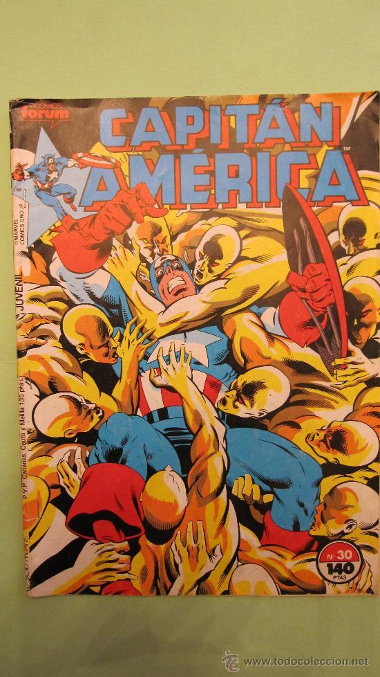 FORUM: CAPITAN AMERICA PRIMERA EDICION. Nº 30. (TAMAÑO ESPAÑOL)......UN LUJO (Tebeos y Comics - Forum - Capitán América)