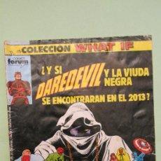 Cómics: FORUM: COLECCION WHAT IF Nº 2 :DAREDEVIL Y LA VIUDA NEGRA; VISION Y BRUJA ESCARLATA......UN LUJO. Lote 30478198